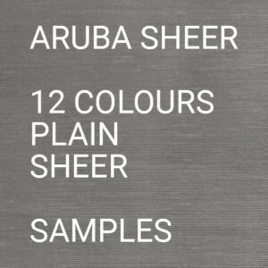 Aruba Sheer Roman Blind Samples