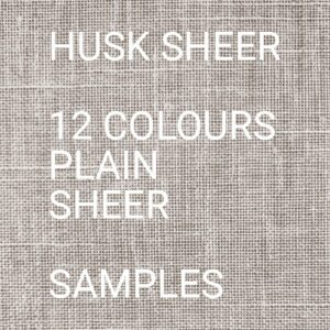 Husk II Sheer Roman Blind Samples