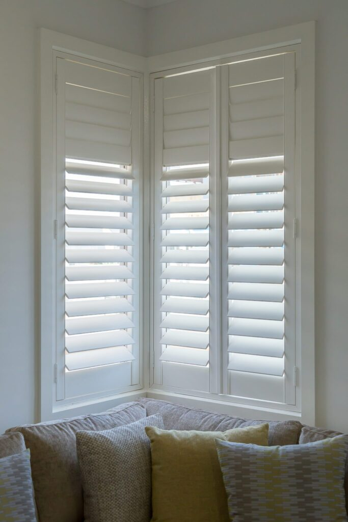 corner plantation shutters