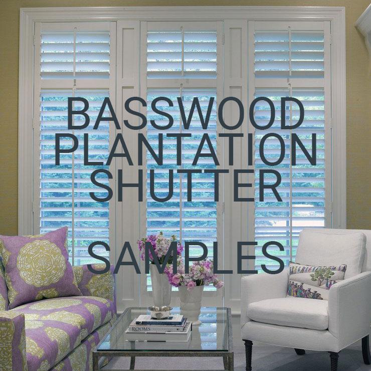 Basswood Plantation Shutter Samples