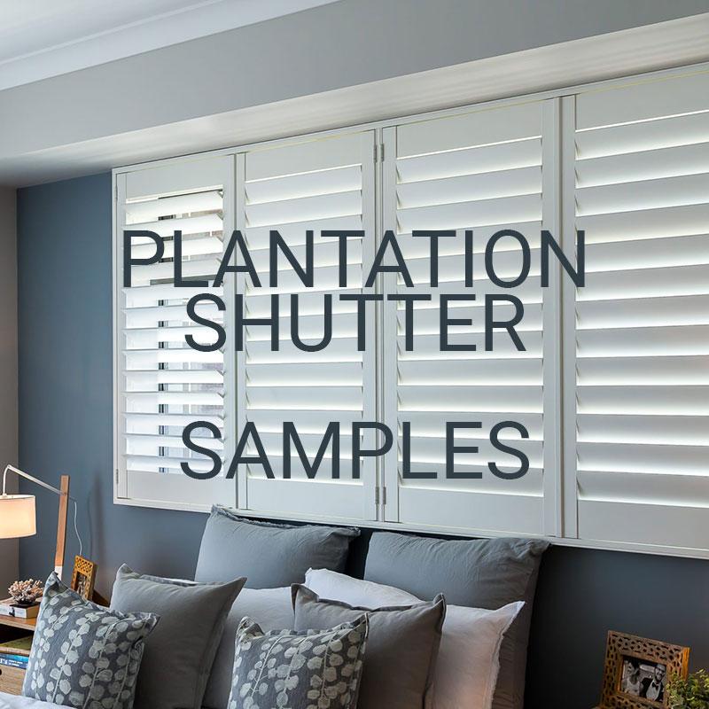 Plantation Shutter Samples